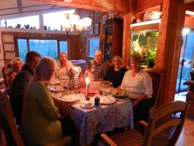 Dinner at Lezley & Stein's